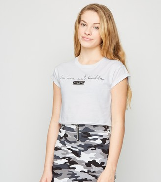 New Look Girls La Vie Paris Slogan T-Shirt