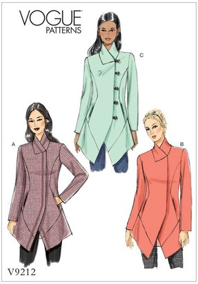 Vogue Misses' Women's Jackets Sewing Pattern, 9212