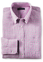 Lands' End Men's Traditional Irish Linen Buttondown Collar Shirt-Jupiter Multi Plaid