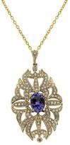 Effy Jewelry Gemma Tanzanite and Diamond Filigree Pendant, 1.73 TCW
