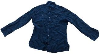 Dirk Bikkembergs Navy Linen Shirts