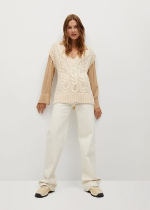 MANGO Knitted braided gilet