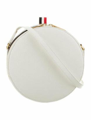 Thom Browne Leather Hat Box Jr. Crossbody White
