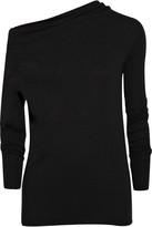 Rick Owens Lilies Asymmetric wool-jersey top
