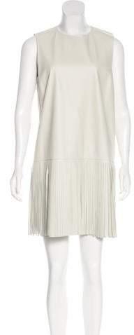 Yves Salomon Fringe-Accented Leather Dress