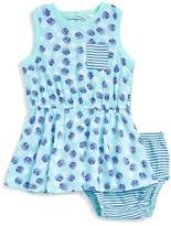 Splendid Shell Print Tank Dress & Bloomer Set (Baby Girls)