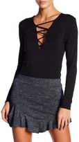 Riller & Fount Criss-Cross Long Sleeve Knit Top