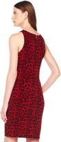 Michael Kors Animal-Print Gathered Dress