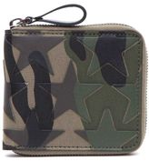 Valentino Garavani Camoustars Zip Around French Wallet