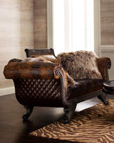 Old Hickory Tannery Shaggy Leather Settee