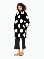Kate Spade Polka dot faux fur coat
