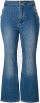 Ellery cropped flared jeans - women - Cotton/Polyester/Spandex/Elastane - 28