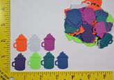 Martha Stewart 70 Embossed Mug Paper Punches, Cut Outs, Embellishments 2183