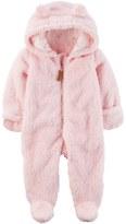 Carter's Baby Girl Pink Sherpa Pram