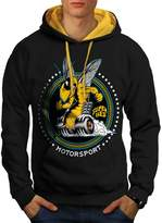 Super Bee Car Sport Motor Wasp Men NEW XL Contrast Hoodie | Wellcoda