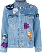 Kenzo badges denim jacket - women - Cotton - XS