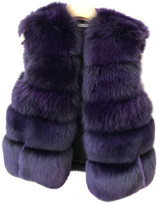 Miu Miu Purple Fox Coat for Women