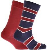 Barbour 2 Pack Hexham Socks Blue