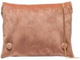 Nanushka Tao velvet crossbody bag