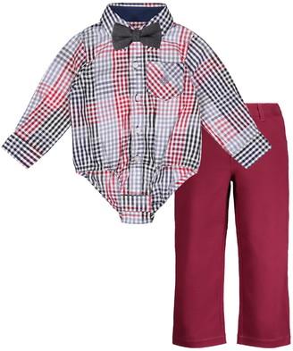Andy & Evan Shirtzie Bodysuit, Bow Tie & Pants Set