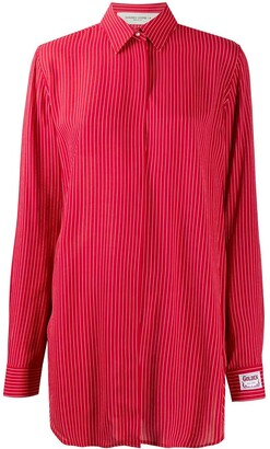 Golden Goose Oversized Stripe Print Shirt