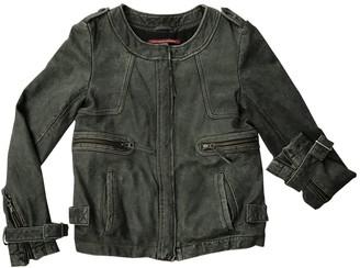 Comptoir des Cotonniers Grey Leather Jacket for Women