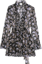 Zimmermann Ruffled Floral-print Silk-georgette Playsuit - 2