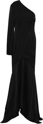 SOLACE London Savon One-shoulder Silk-blend Satin Gown