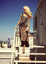 Savee Couture DR5936 Clever Diva In Brown Cheetah Top