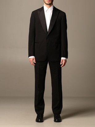 Giorgio Armani Suit Smoking Rever Launches Regular Trousers Bottom 19