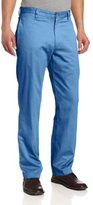 Louis Raphael Men's Straight Fit Flat Front Garment Dye Cotton Pant