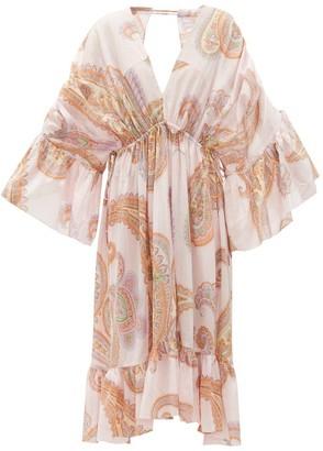 Loup Charmant Sunrise Paisley-print Organic-cotton Dress - Womens - Pink Print