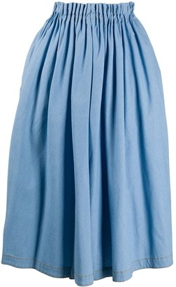 Marni High-Waisted Pleated Midi Skirt