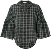 Tome checked print blouse