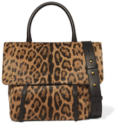 Jerome Dreyfuss Jeremie Leopard Calfskin Bag