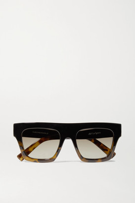 Le Specs Subdimension D-frame Tortoiseshell Acetate Sunglasses - Black