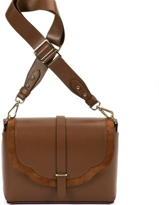 Harmonia Leather Bag Brown & Brown Suede