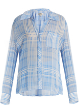 Diane von Furstenberg Patch-pocket crepe shirt