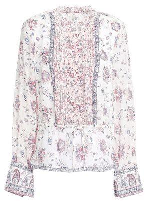 Joie Danby Floral-print Silk-georgette Blouse