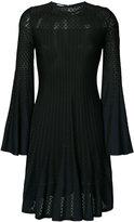 Oscar de la Renta long-sleeve flared dress