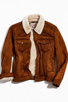 Levi's Levis Sherpa Lined Faux Suede Trucker Jacket