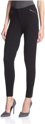 Society New York Women's Skinny Zipper Pants