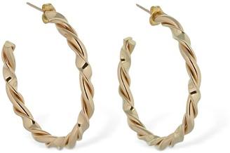 Laura Lombardi Twisted Ribbon Wire Hoop Earrings