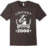 Men's Cricket Legends Are Born In 2000 Birthday Gift T-shirt 3XL