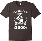 Men's Cricket Legends Are Born In 2000 Birthday Gift T-shirt Small