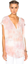 Raquel Allegra Shirred Combo Top