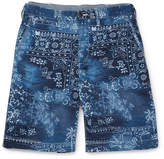 Polo Ralph Lauren Bandana-Print Cotton-Twill Shorts