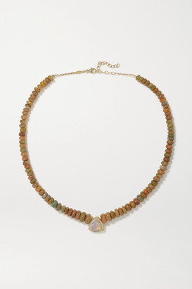 Jacquie Aiche 14-karat Gold, Opal And Diamond Necklace - one size