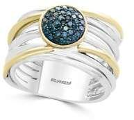 Effy 14K Yellow Gold and 925 Sterling Silver Ring