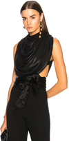 J.W.Anderson Draped Backless Top in Black.